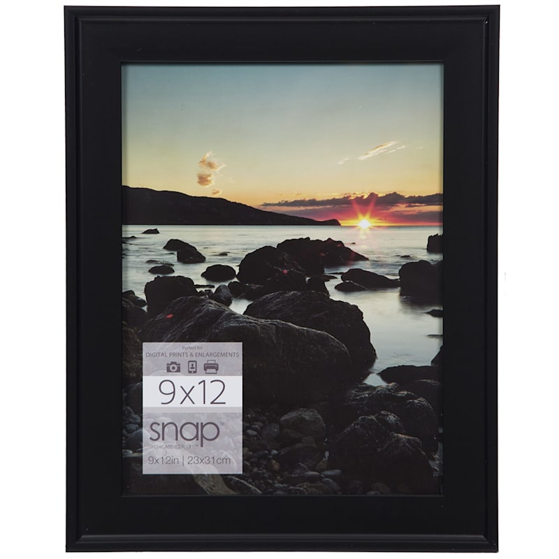 9X12 Black Scoop Profile Photo Wall Frame