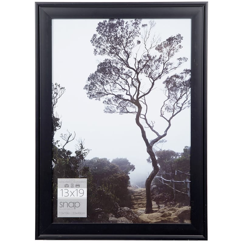 13X19 Black Scoop Profile Photo Wall Frame