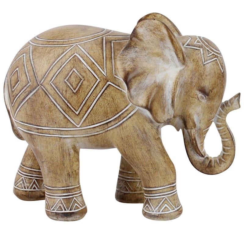 8X7 Resin Aztec Design Elephant