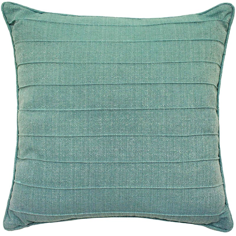 Dynasty Pintuck Turquoise Throw Pillow