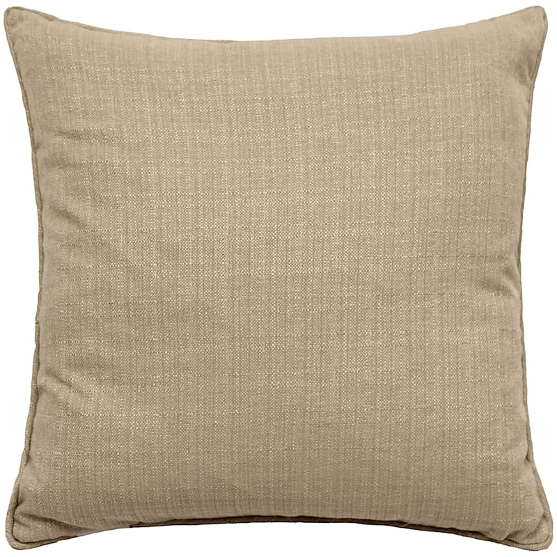 "Dynasty Pintuck Throw Pillow, 20"" square, Linen"
