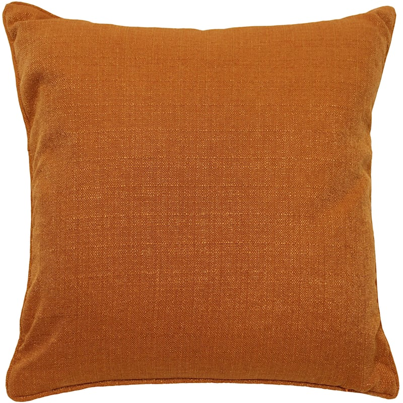 Dynasty Tangerine Pintuck Pillow 20X20