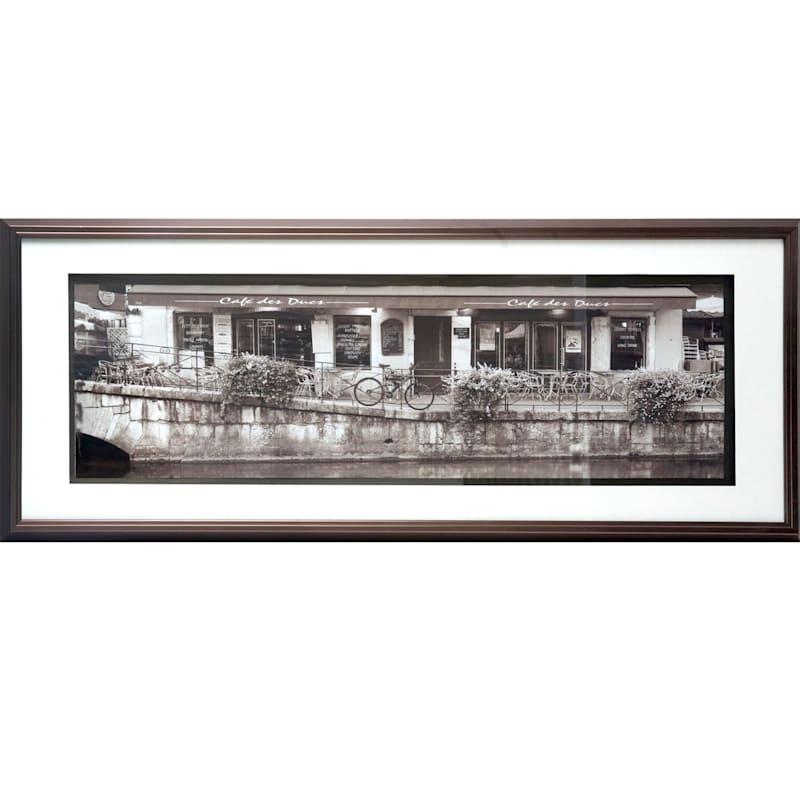 Canal Sepia Framed Art