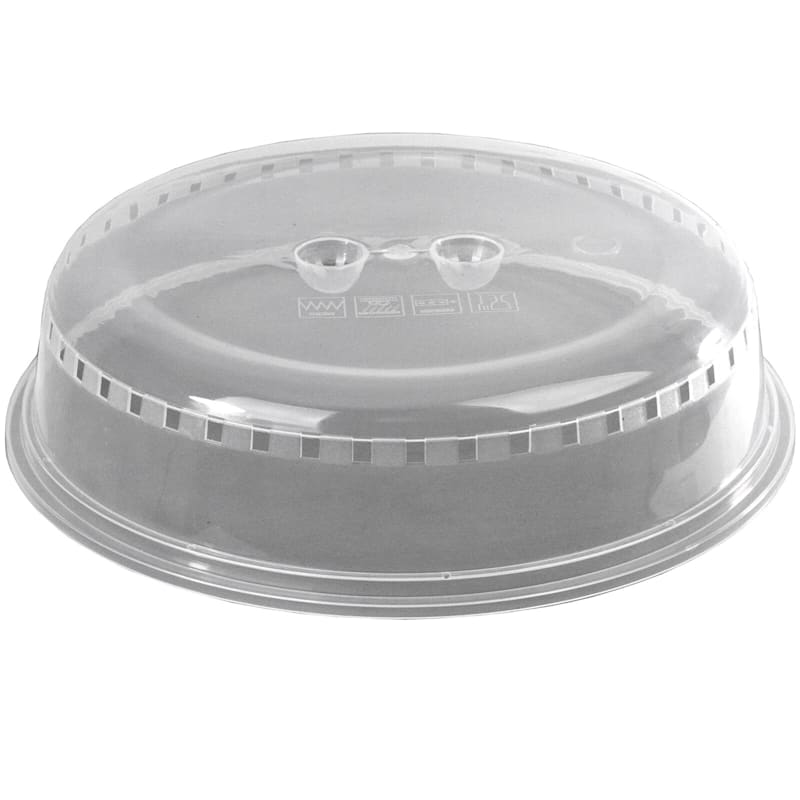 Cover Plates/Bowls Up To 10in. Helps Keep Microwave Clean From Splatter