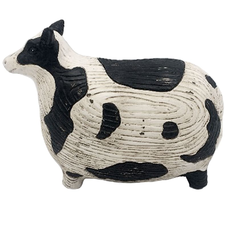 Resin Cow Figurine Decor