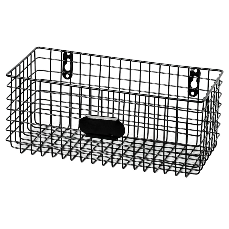 Black Metal Storage Basket