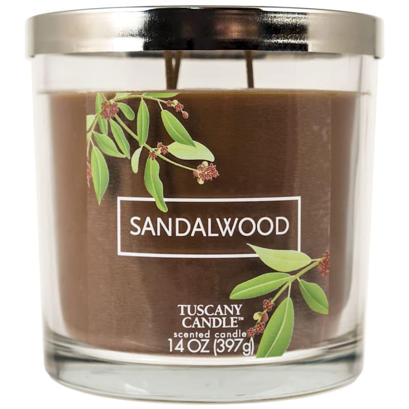 14oz Tuscany Silver Sandalwood Candle