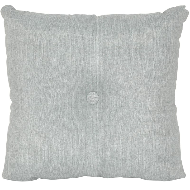 Tahiti Silver Outdoor Tufted Back Cushion