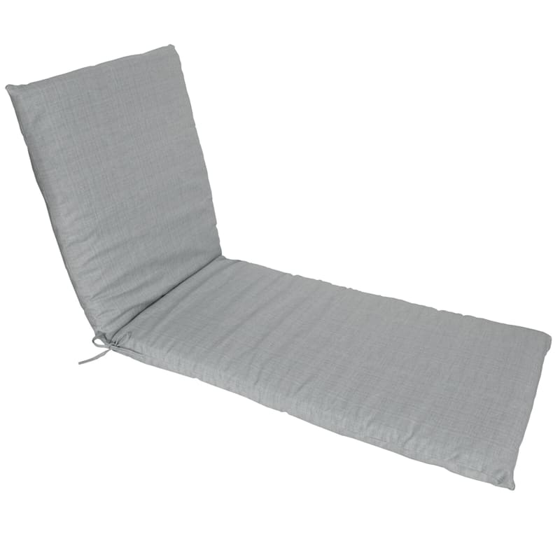 Tahiti Silver Outdoor Chaise Lounge Basic Cushion