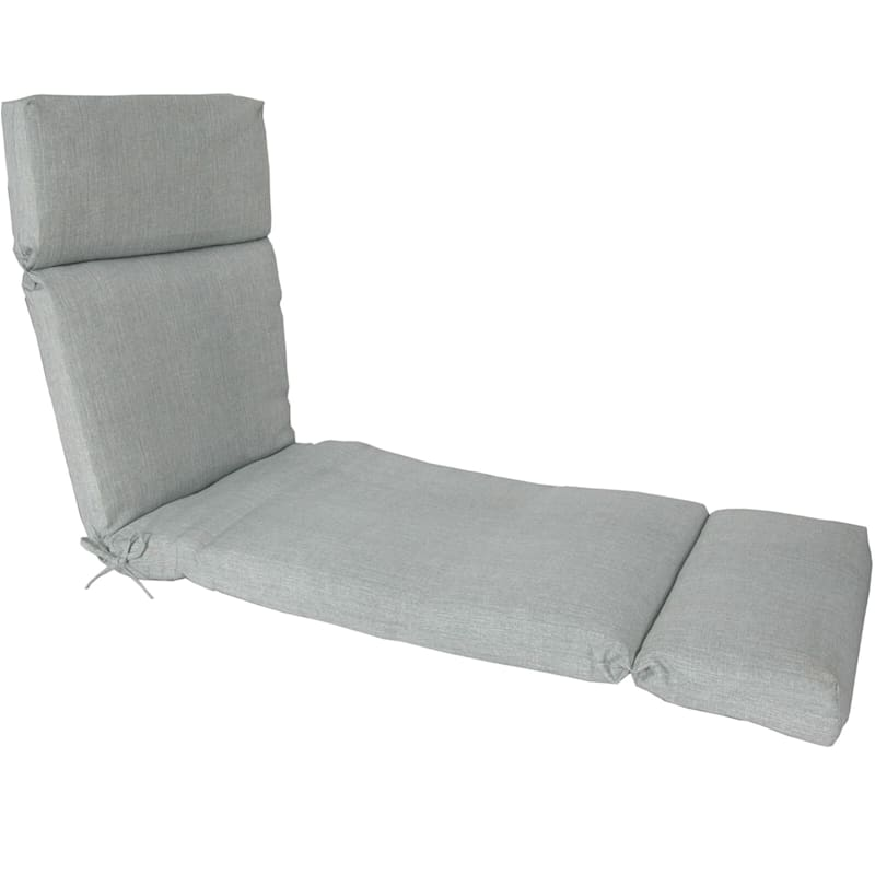 Tahiti Silver Outdoor Chaise Lounge Universal Cushion