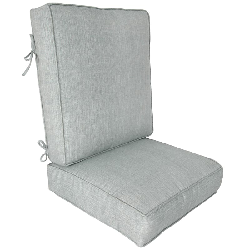 Tahiti Silver Outdoor Deep Seat 2-Piece Cushion