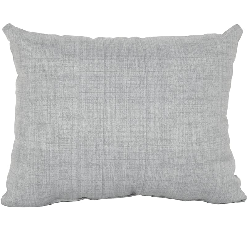 Tahiti Silver Outdoor Oblong Pillow, 12x16