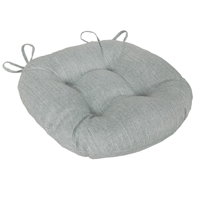 Tahiti Silver Outdoor Round Seat Cushion