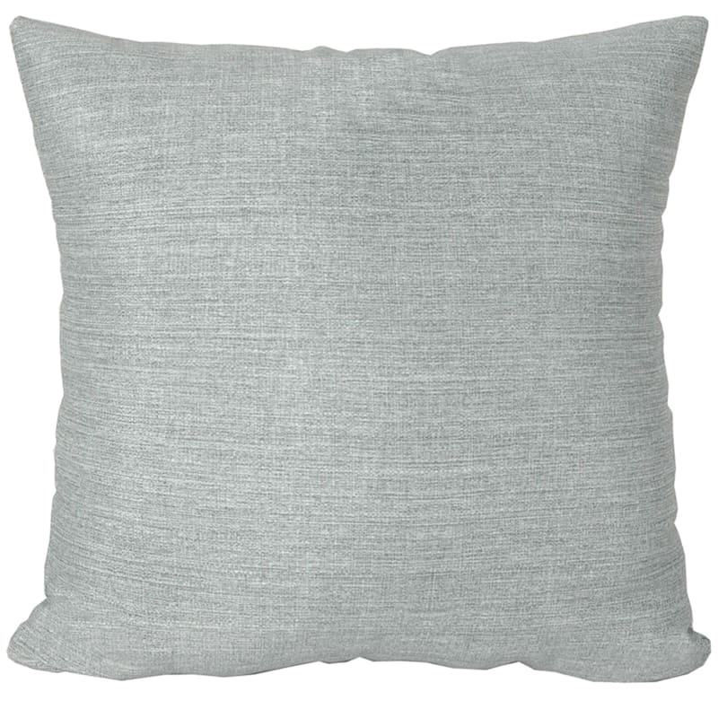 Tahiti Silver Outdoor Square Pillow, 16""