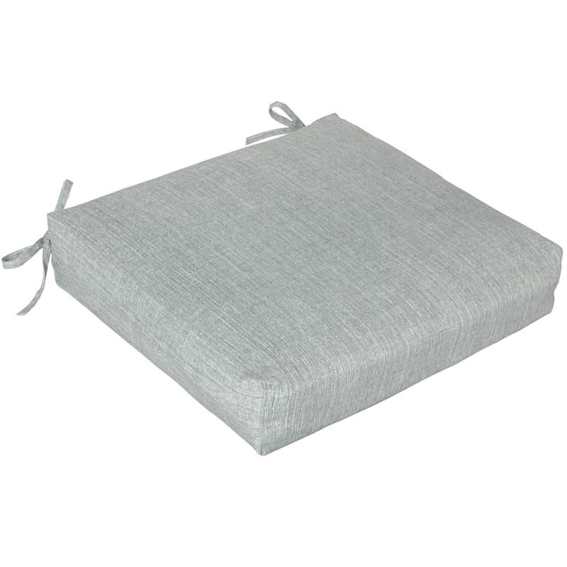 Tahiti Silver Outdoor Square Seat Cushion