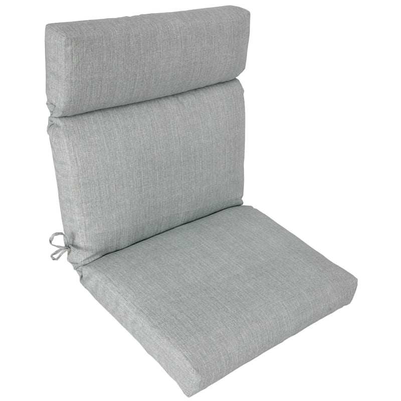 Tahiti Silver Outdoor Hinged Chair Cushion