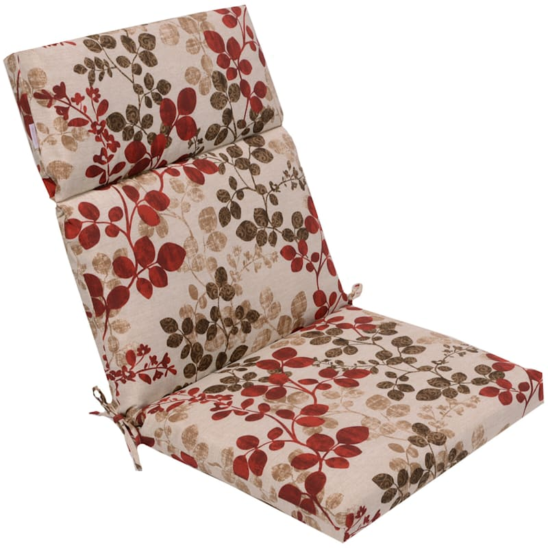 Cabrera Sangria Outdoor Hinged Chair Cushion