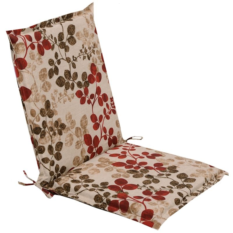 Cabrera Sangria Outdoor Chair Cushion With Flange