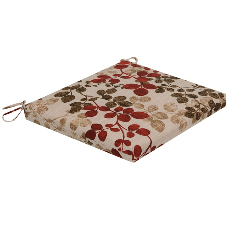 Cabrera Sangria Outdoor Square Seat Cushion