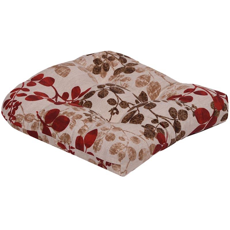 Cabrera Sangria Outdoor Wicker Seat Cushion