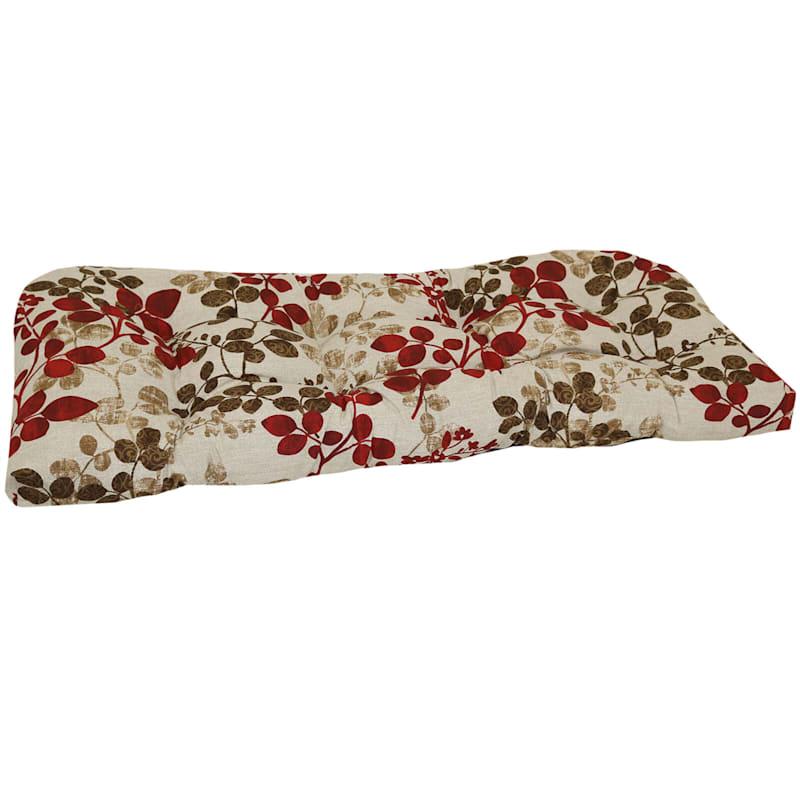 Cabrera Sangria Outdoor Wicker Settee Cushion