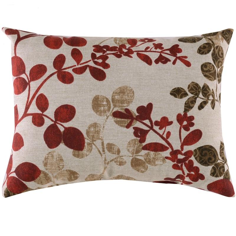 Cabrera Sangria Outdoor Oblong Pillow, 12x16
