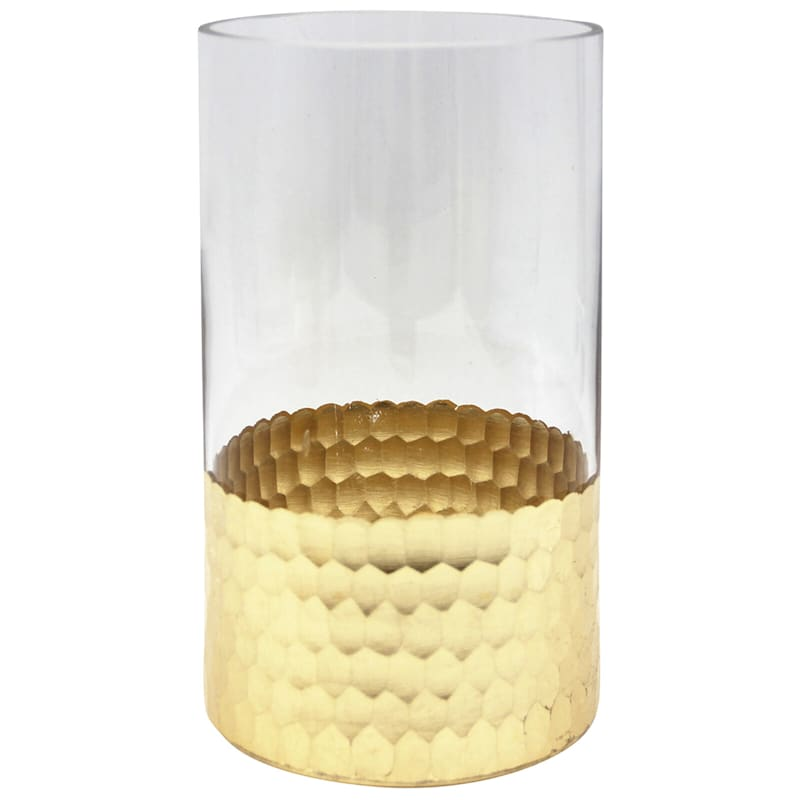 Gold Foil Glass Vase - 5x8 in.