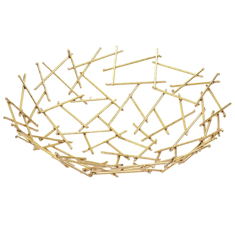 5in. Gold Metal Wire Bowl