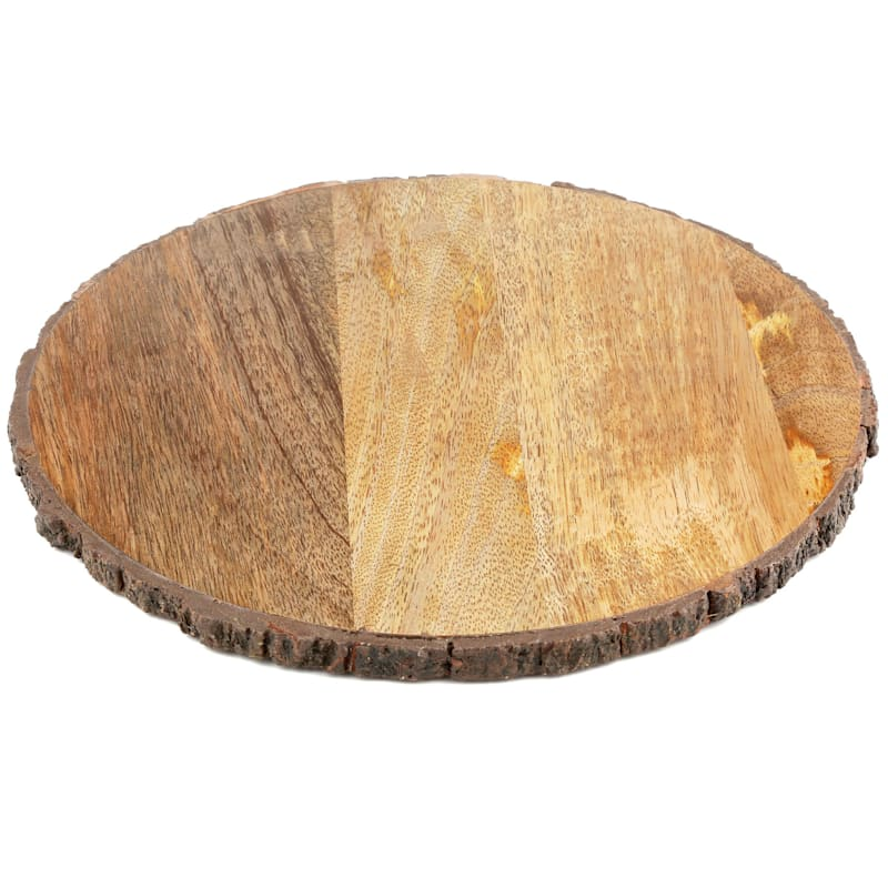Round Wood Serve Board/Bark Edge