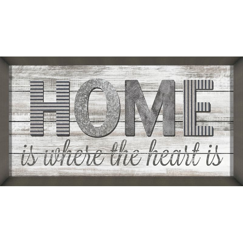 26x14 Home Lifted Words Framed/Glass