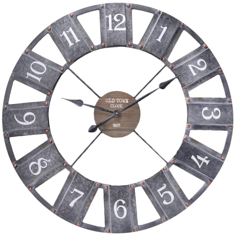 36X36 Round Wood/Metal Cutout Clock