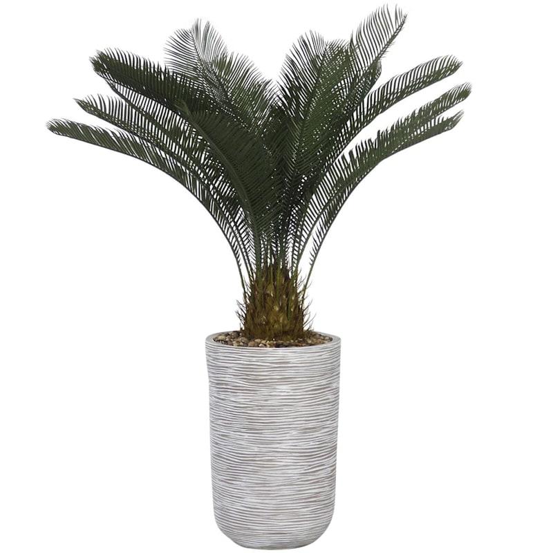 49in. Palm W/Textured Grey Pot