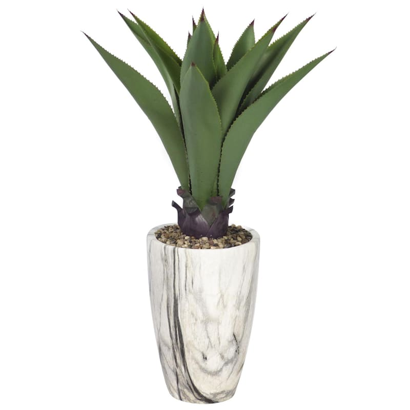 36in. Agave In Marble Pot