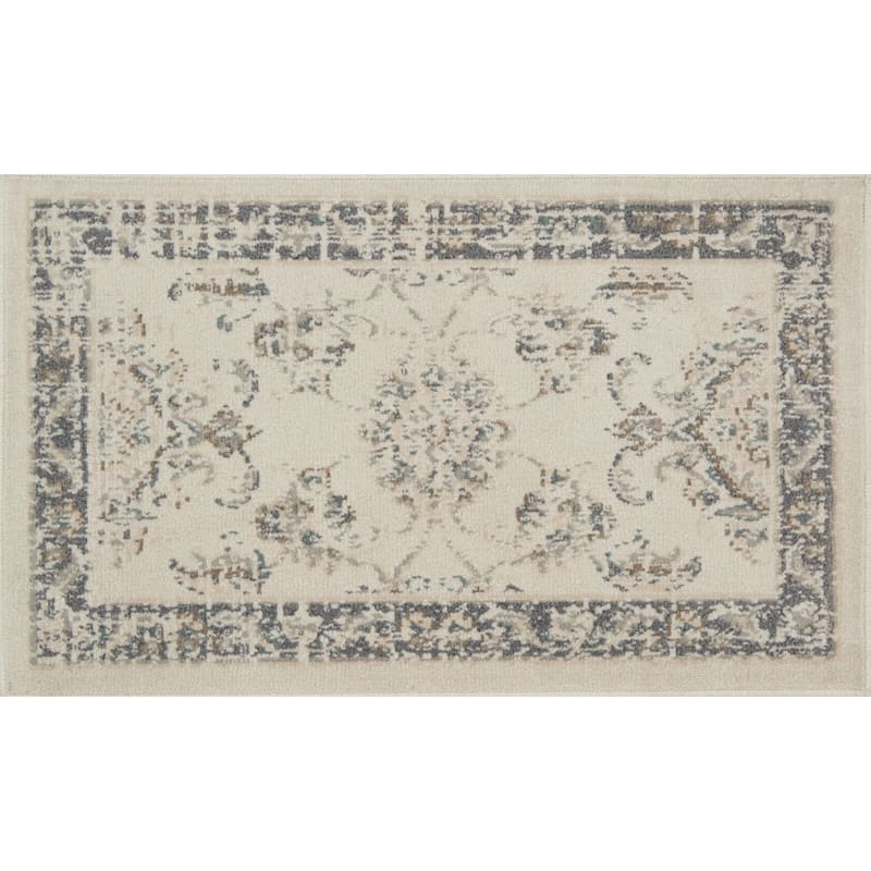 D384 Norwich Traditional Ivory and Beige Rug - 3x5 ft.