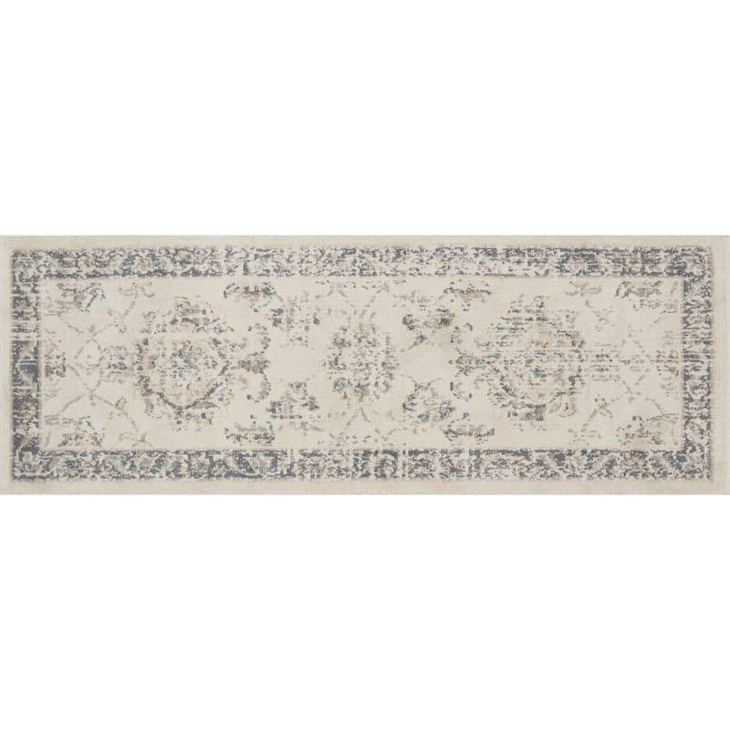 D384 Norwich Traditional Ivory and Beige Rug  - Runner
