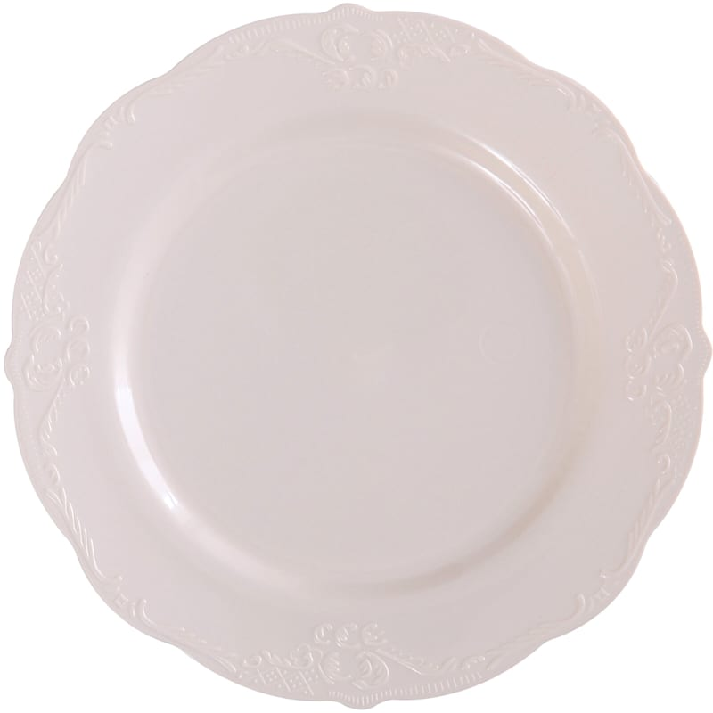 10in. Vintage Cream Plate Set Of 10