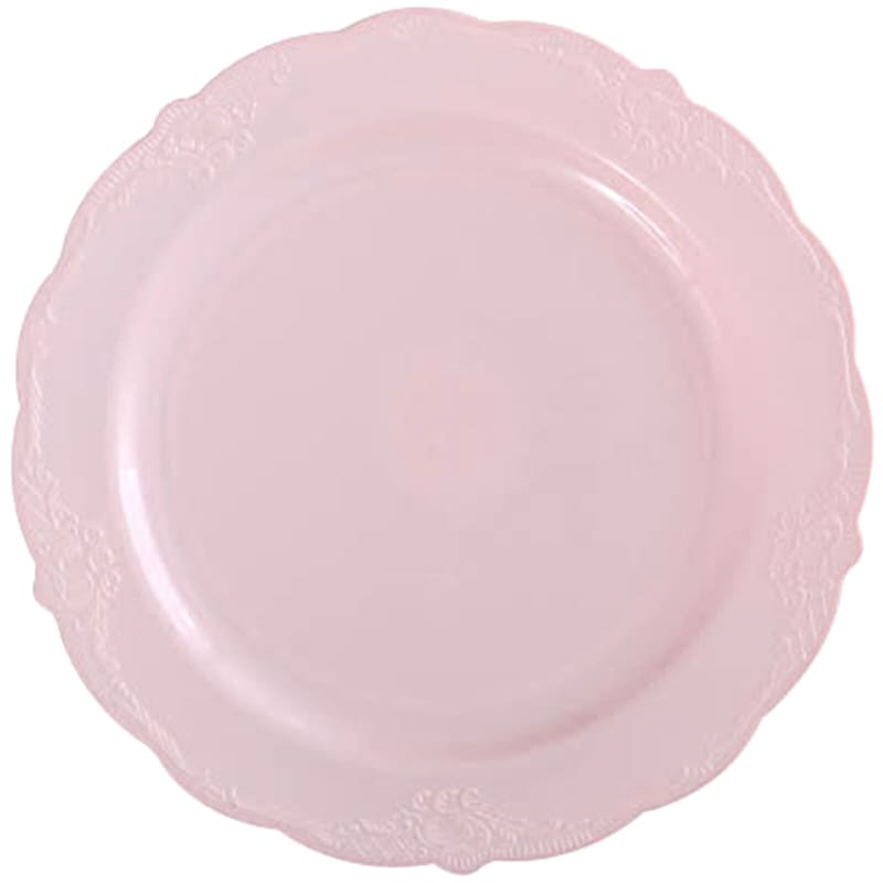 10in. Vintage Blush Plate Set Of 10