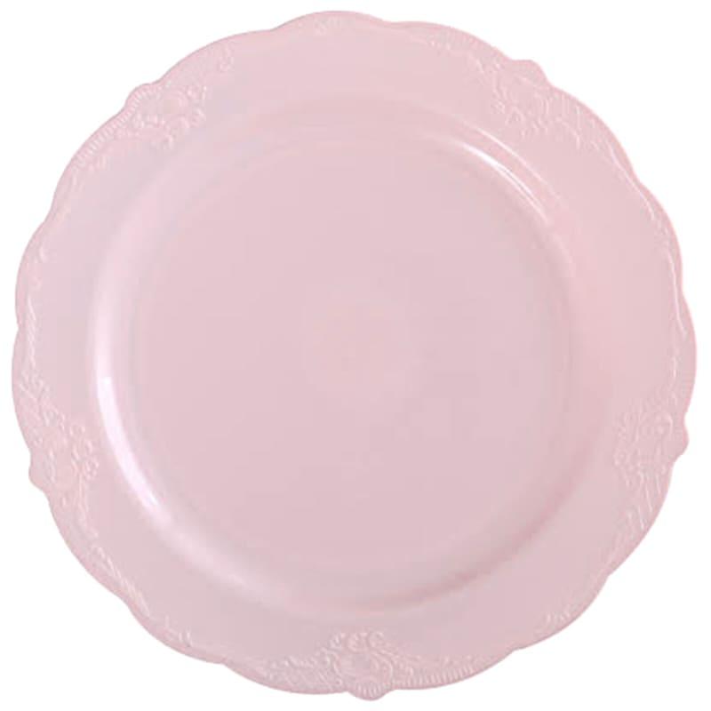 Set Of 10 Cream Salad Plates