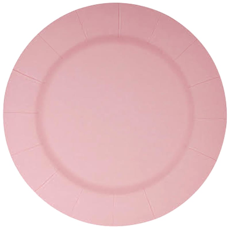 13IN BLUSH CHARGER-SET OF 10