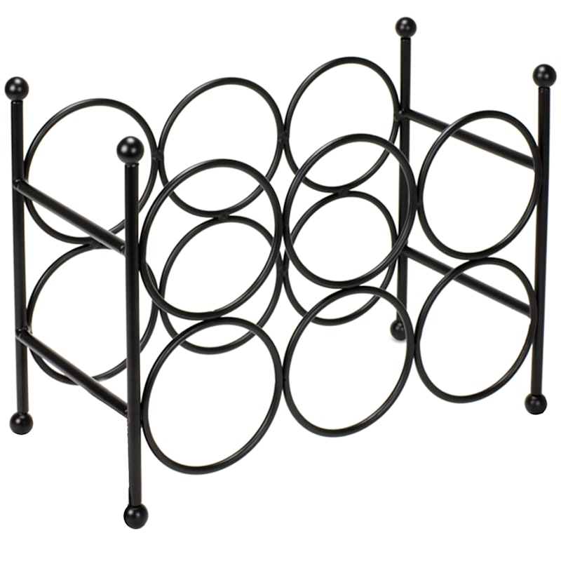 6-Bottle Dark Rings Wine Rack