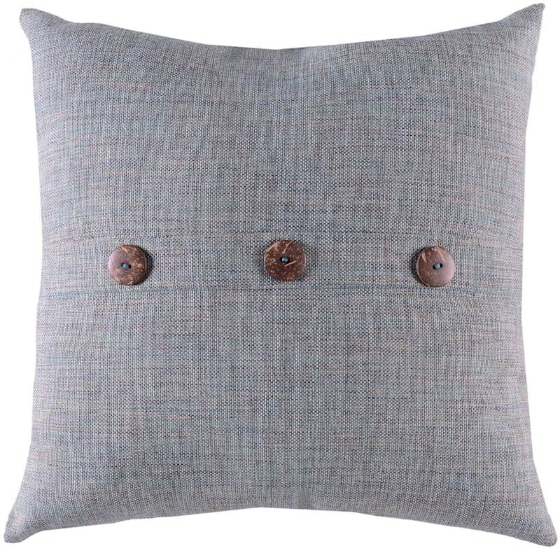 Wessex Azure Outdoor Premium 18in. Square Button Pillow