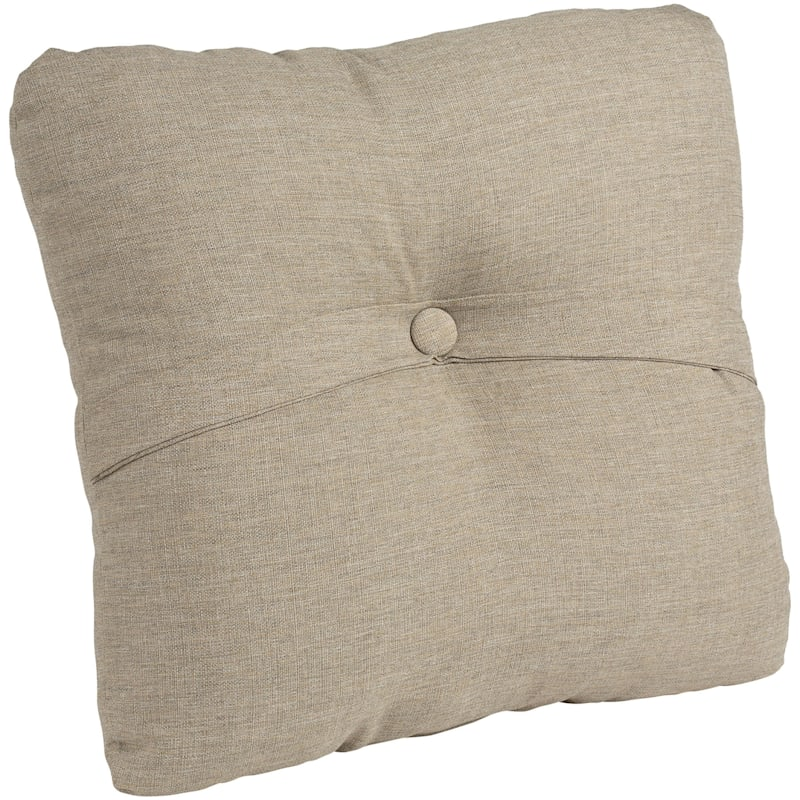 Sonora Taupe Outdoor Premium Tufted Back Cushion