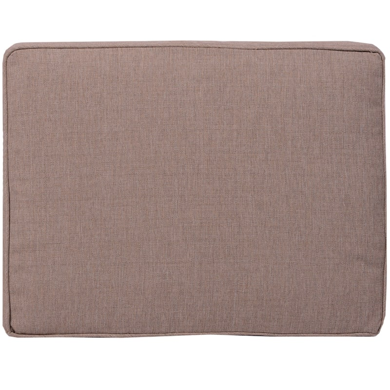 Sonora Taupe Outdoor Premium Gusseted Short Back Cushion