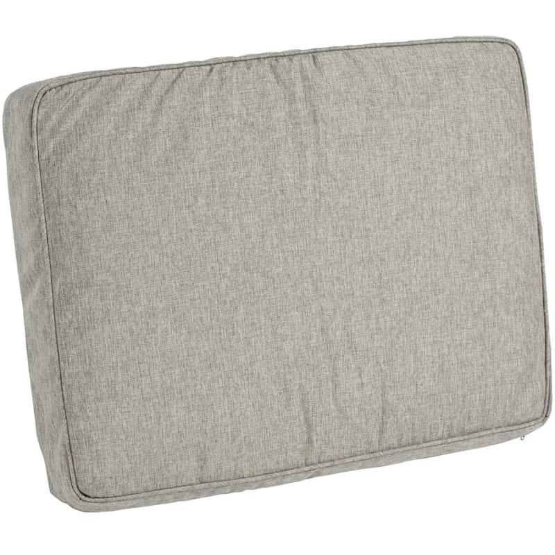 Vernon Granite Outdoor Premium Gusseted Short Back Cushion