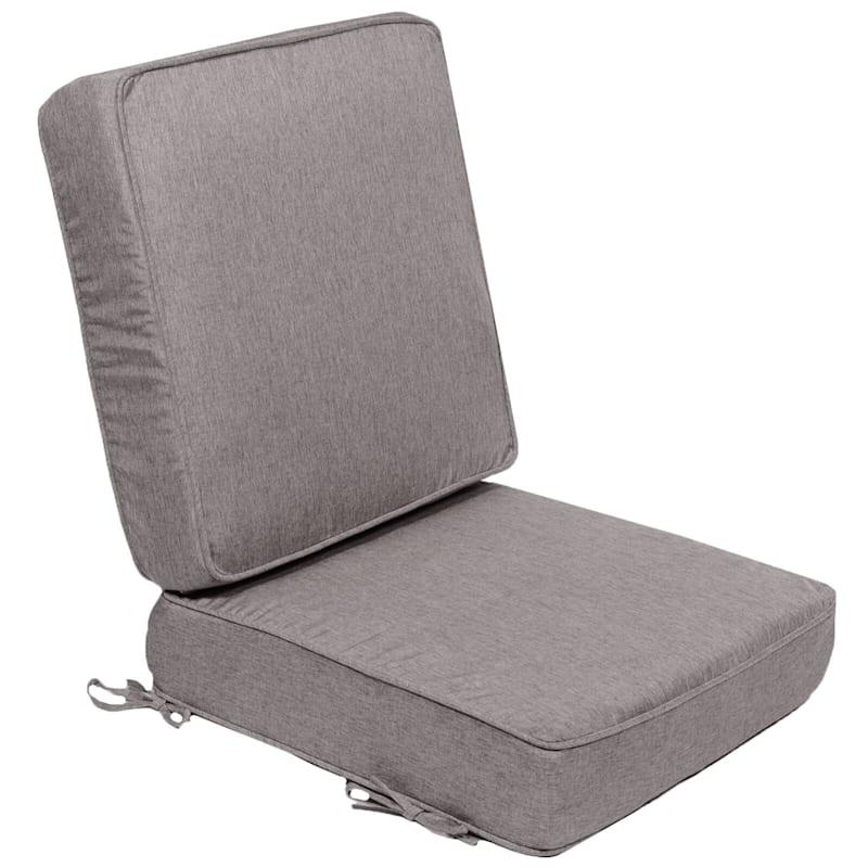 Vernon Granite Outdoor Premium Deep Seat 2-Piece Cushion