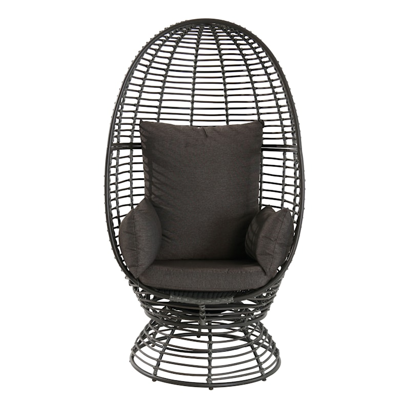 Foster Swivel Wicker Outdoor Egg Chair