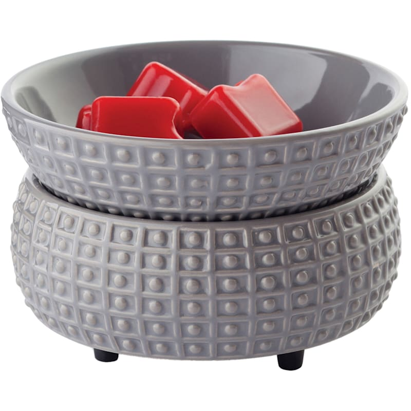 Grey 2 In 1 Ceramic Wax Warmer