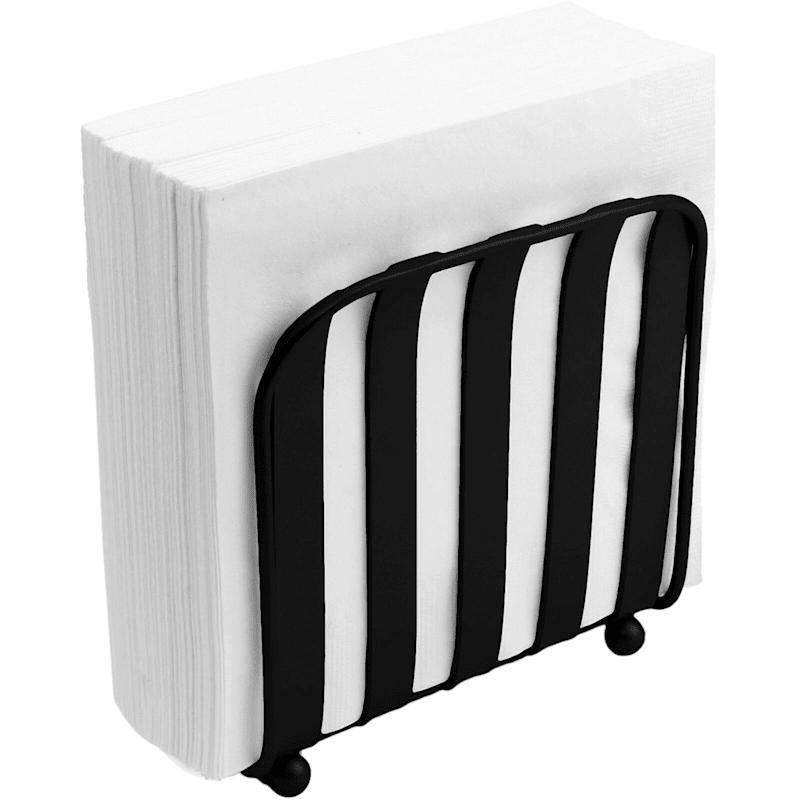 Black Stripe Napkin Holder