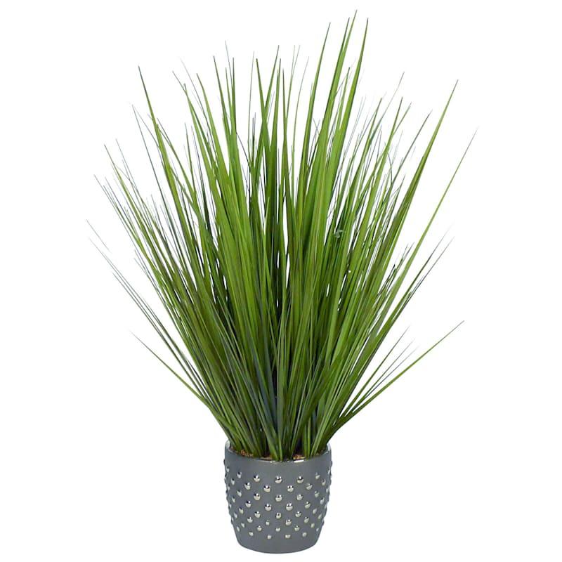 31in. Grass In Gray Pot
