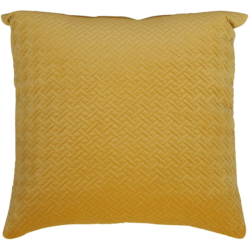 Wicker Park Sunflower Pinsonic Plush Pillow 18X18
